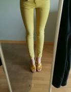 musztardowe spodnie H&M