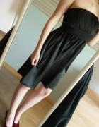 Gina Tricot czarna sukienka bez ramiączek