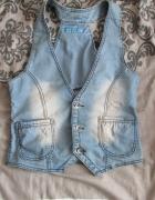 piekna jeansowa kamizelka m l