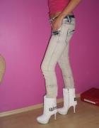 jeansy marmurki rozm m jak nowe