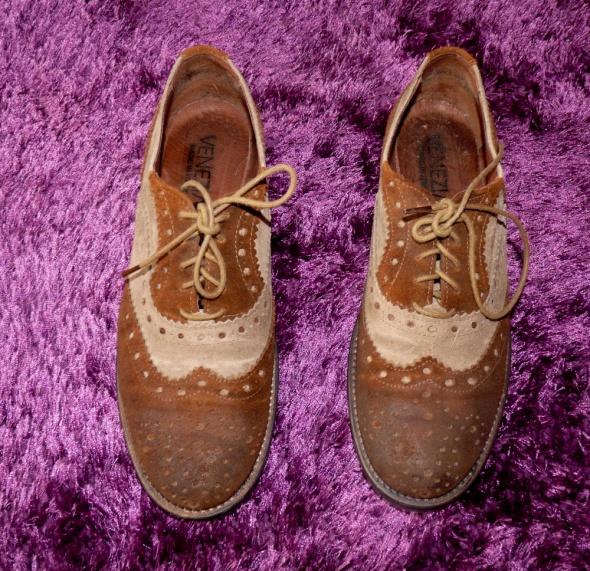 Półbuty buty oksfordki 38 skórzane venezia