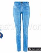 Nowe jeansy marmurkowe rozmiar M