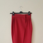 bordowa spódnica