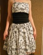 Rozkloszowana sukienka w kwiaty S