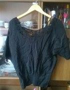 Czarna bluzka ażurowe plecy gołe