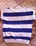 Śliczna koszulka vintage paski M