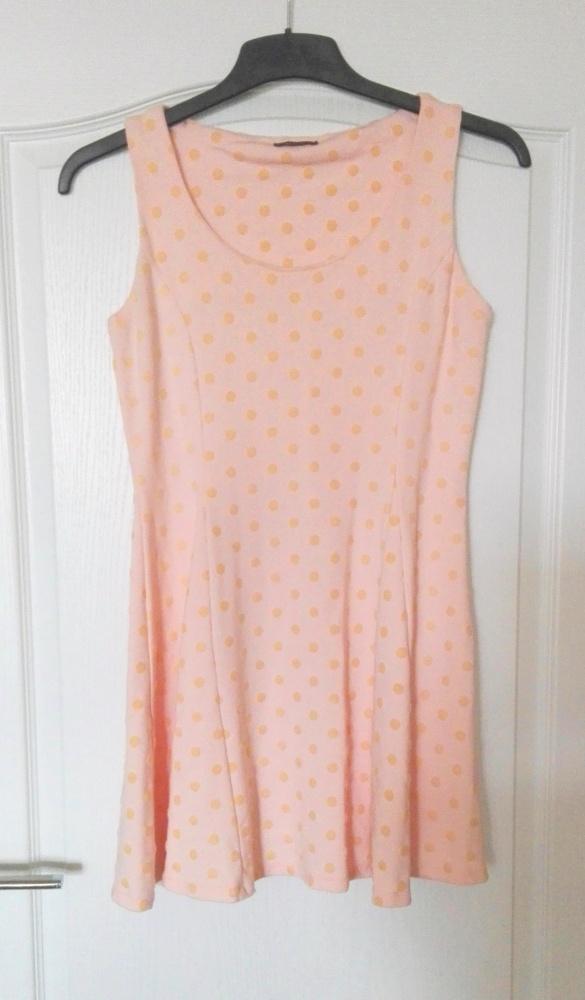 Suknie i sukienki Urocza sukienka Mohito w groszki pudrowy róż