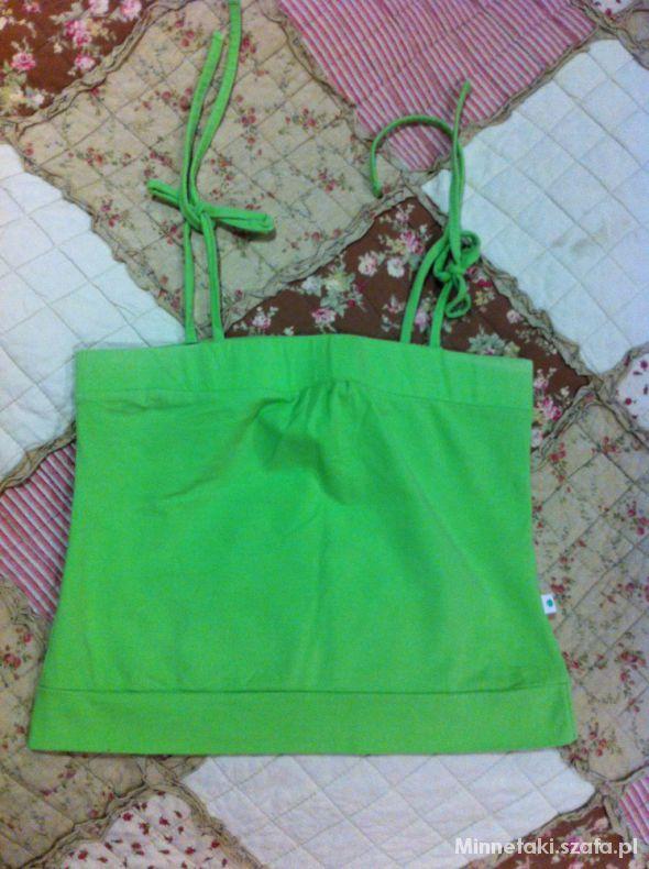 Top Wiązany zielony top Troll M