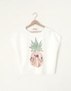 ZARA ananas print koszulka M