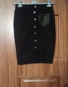 Jeansowa ołówkowa spódnica