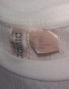 krótki rękawek beż 34 XS ażurowy H&M