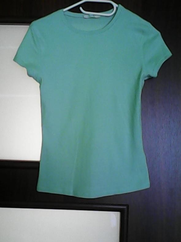 Bluzki Niebieska bluzka z krótkim rękawkiem