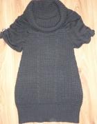 Sweterek plecione warkocze