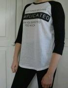 Biało czarna bluzka