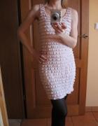 Sukienka H&M Divided blady róż 34 36