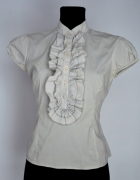 szara bluzka z zabotem