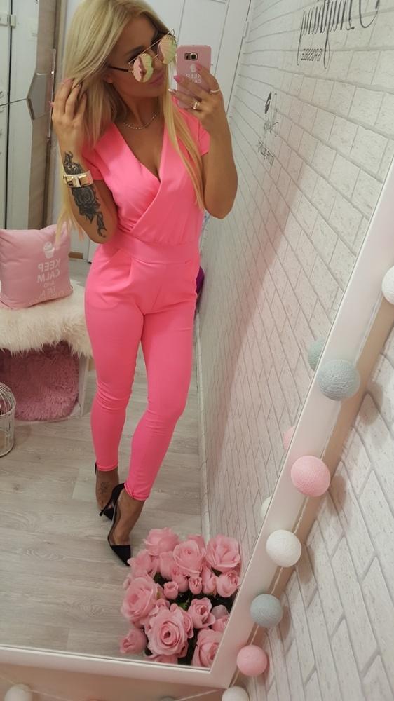 Codzienne kombinezon neon fluo pink love