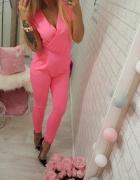 kombinezon neon fluo pink love...