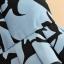niebieska sukienka czarna wzory s nowa ax paris