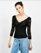 koronkowa seksowna bluzka czarna