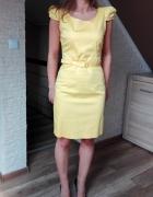 żółta sukienka S