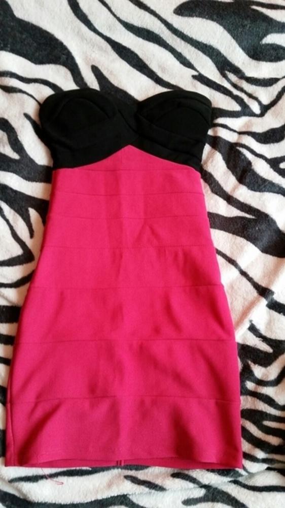 Suknie i sukienki Bandażowa sexi sukienka tally weijl neon czerń róż