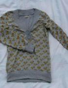 Bluza szara w kokardki XS do S