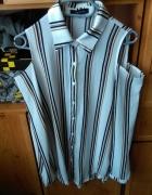 koszula z wyciętymi ramionami