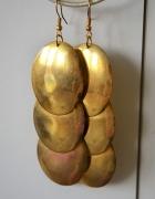 Długie złote kolczyki blaszki