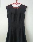 NOWA Elegancka czarna rozkloszowana sukienka s