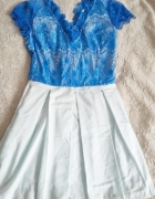 Sukienka koronkowa z dekoltem