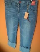 Spodnie jeansy nowe Denim co niebieskie 40