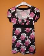 Nowa bluzka Select 44 46 floral w kwiaty różowe