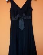 Nowa piękna elegancka czarna sukienka kokarda tiul