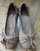 Śliczne karmelowe baleriny nówki
