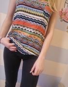 kolorowa bluzka wzor aztecki