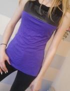 fioletowa bluzka orsay skórka