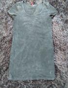 Bluzka tunika marmurkowa H&M s 36