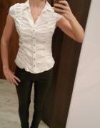 Biała galowa bluzka