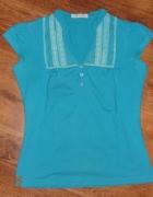 Niebieska bluzka z krótkim rozmiar M