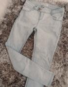 Spodnie rurki szare PULL N BEAR