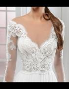 Suknia ślubna Milla Nova Berta prosta xs 36 koronk