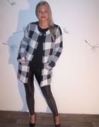 Dlugi Sweter Czarno Biały