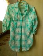 Zielona koszula w kratę