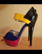 Cuda kolorowe studniówka sylwester high heel