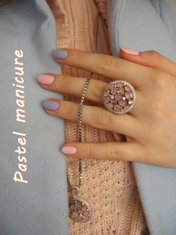 Paznokcie Pastel manicure