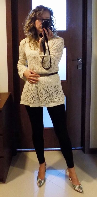 Swetry Sweter koronkowy Promod