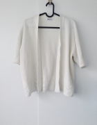 sweter ecru biały ażur oversize damart