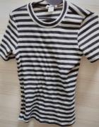 Bluzka z krótkim rękawkiem w paski H&M
