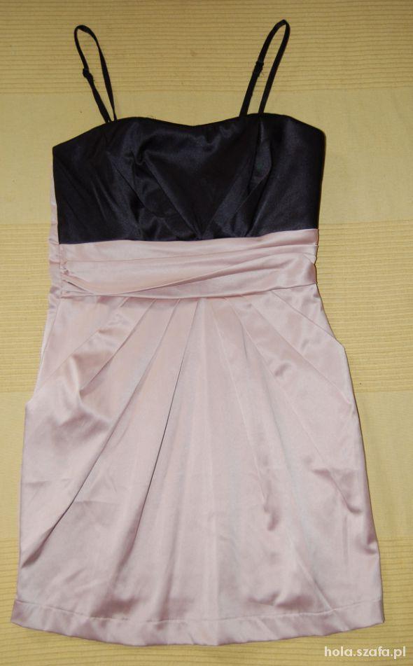 Suknie i sukienki sukienka z kieszonkami VILA nude XS